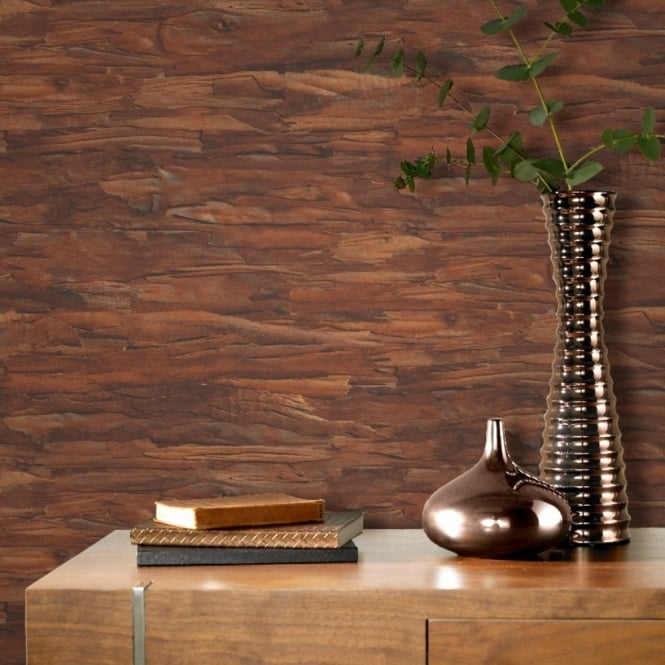 Rasch Tree Bark Pattern Wallpaper Wood Faux Effect Realistic Textured 419375