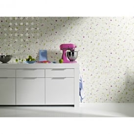 Rasch Trendspots Paint Spot Circle Motif Embossed Designer Wallpaper 896558