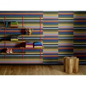 Rasch Trendspots Rainbow Fabric Zip Stripe Motif Textured Designer Wallpaper 896459