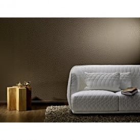 Rasch Trendspots Snakeskin Honeycomb Motif Pattern Embossed Gold Wallpaper 895520