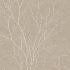 Rasch Twig Tree Branch Pattern Wallpaper Modern Non Woven Textured 455908