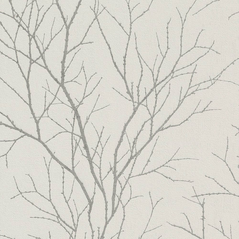 Rasch Twig Tree Branch Pattern Wallpaper Modern Non Woven Textured 455922