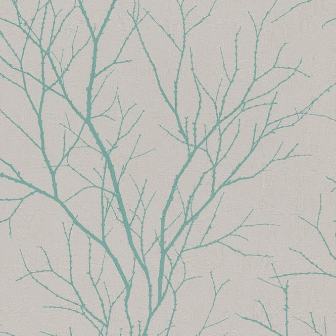 Rasch Twig Tree Branch Pattern Wallpaper Modern Non Woven Textured 455939