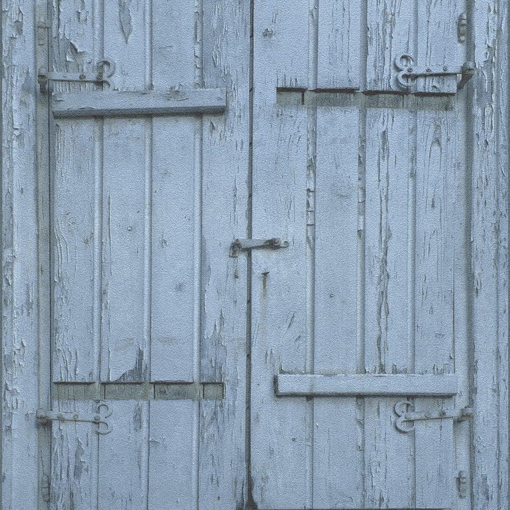 Wooden Window Country Barn Pattern Wallpaper Rustic Realistic Faux Effect 525021