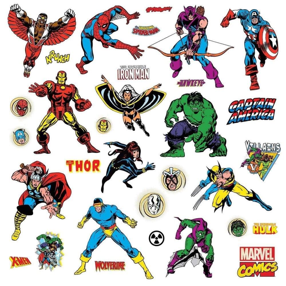 Roommates Marvel Comics Peel Stick Wall Decals Children S