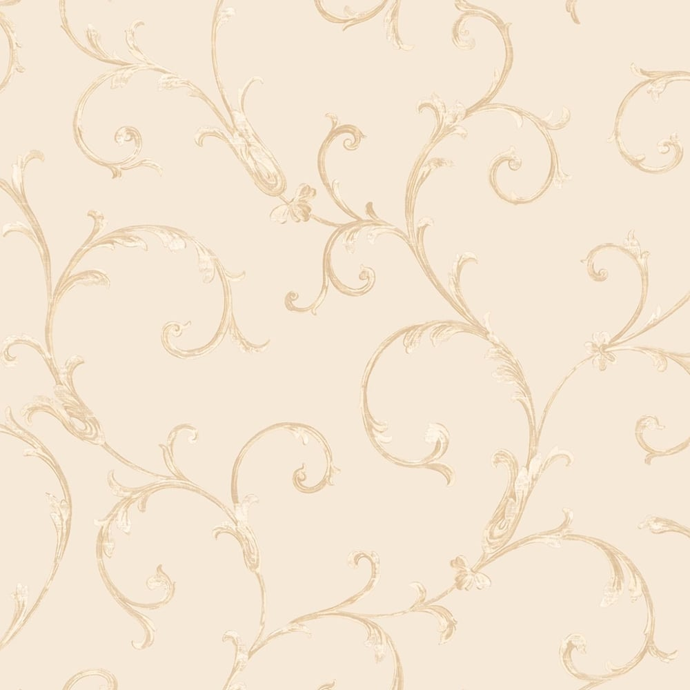 Sirpi Floral Leaf Pattern Wallpaper Metallic Glitter Heavy Weight