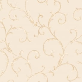 Sirpi Floral Leaf Pattern Wallpaper Metallic Glitter Heavy Weight 20590