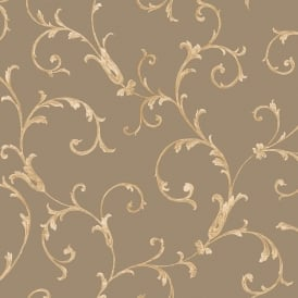 Sirpi Floral Leaf Pattern Wallpaper Metallic Glitter Heavy Weight 20592