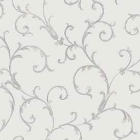 Sirpi Floral Leaf Pattern Wallpaper Metallic Glitter Heavy Weight 20594