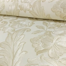 Sirpi Italian Damask Pattern Wallpaper Metallic Floral Leaf Heavy Weight 20571