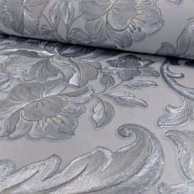 Sirpi Italian Damask Pattern Wallpaper Metallic Floral Leaf Heavy Weight 20573