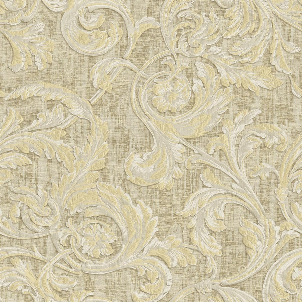 New Sealed Rolls Sirpi Italian Floral Leaf Pattern Wallpaper Free UK Postage