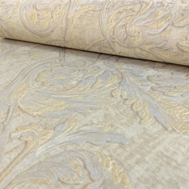 Sirpi Italian Floral Leaf Pattern Wallpaper Traditional Metallic Heavy Weight 20500