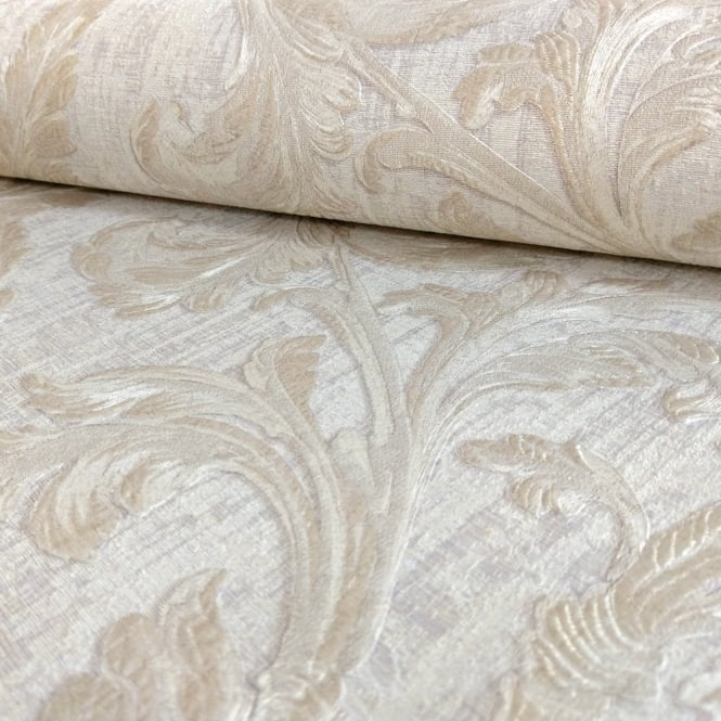 Sirpi Italian Floral Leaf Pattern Wallpaper Traditional Metallic Heavy Weight 20501