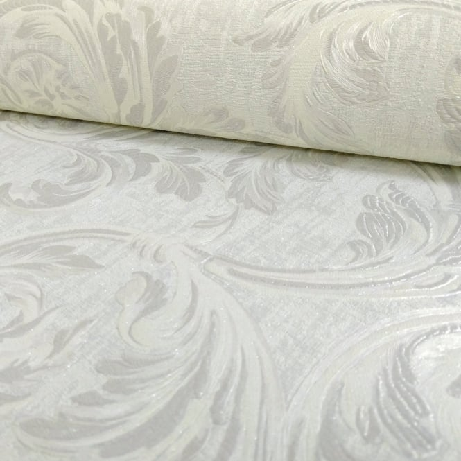 Sirpi Italian Floral Leaf Pattern Wallpaper Traditional Metallic Heavy Weight 20502