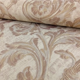 Sirpi Italian Floral Leaf Pattern Wallpaper Traditional Metallic Heavy Weight 20505