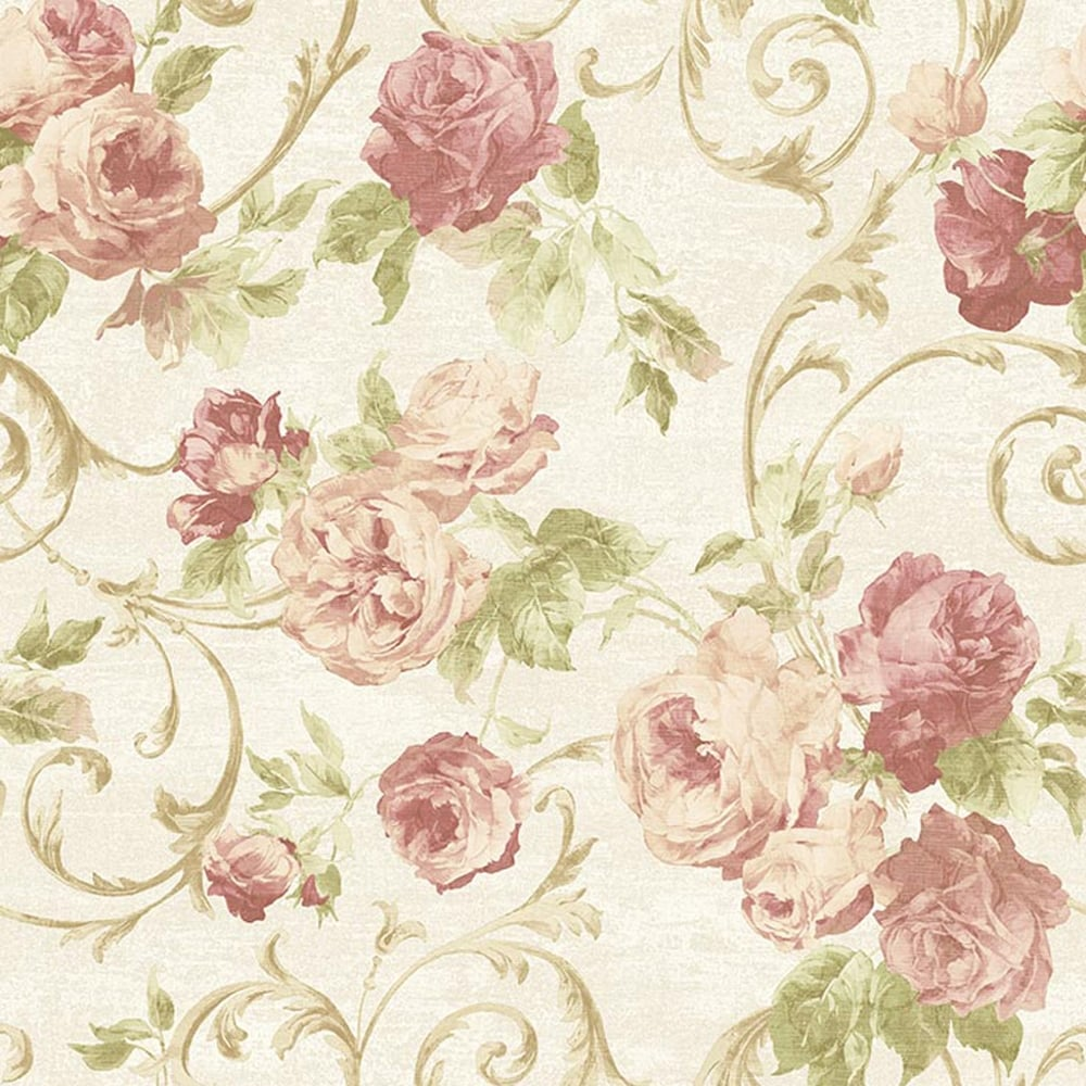 Sirpi Rose Flower Pattern Wallpaper Floral Glitter Motif Italian Heavy Weight 20550