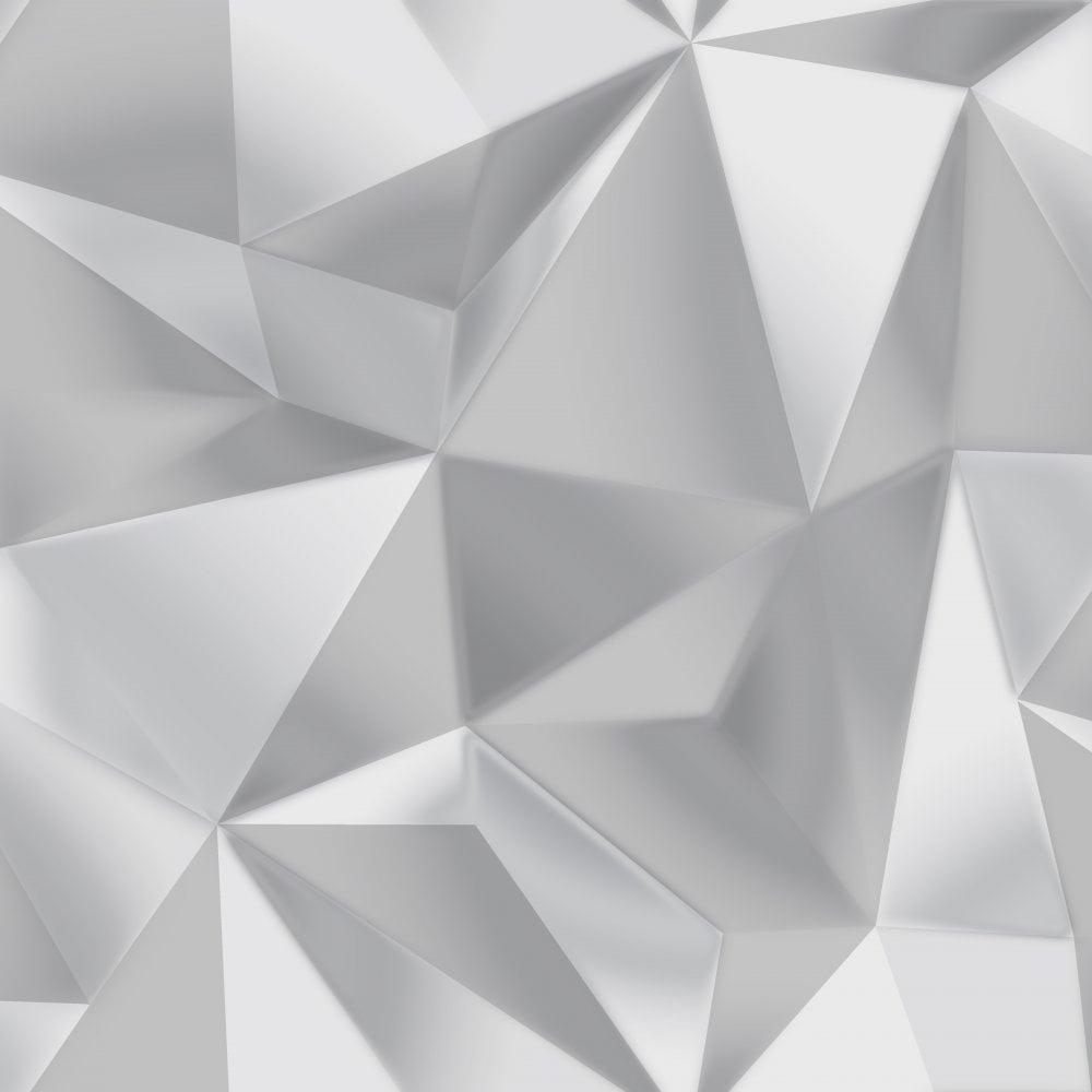 Spectrum Silver Grey 3d Effect Geometric Shape Modern Wallpaper 5020