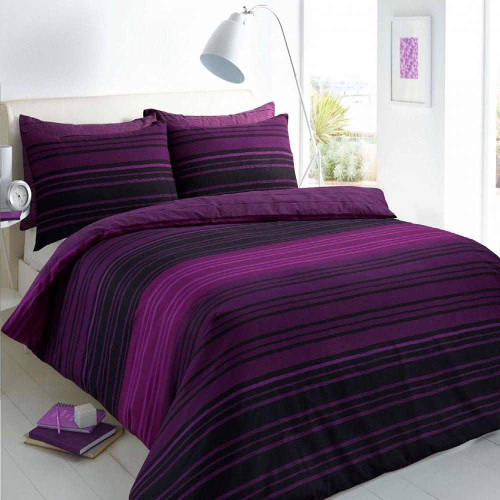 Texture Stripe Duvet Set Bed Quilt Cover Reversible