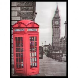 3D Wall Art Big Ben Phone Box Portrait Framed Lenticular Picture 84-2516