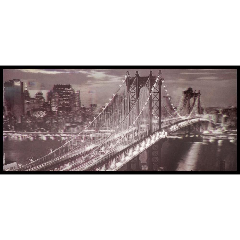 W a 3d wall art brooklyn bridge new york black white framed lenticular picture 84 2513