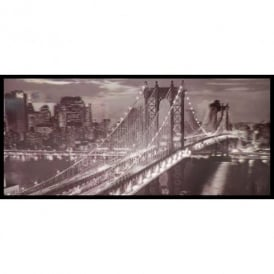 3D Wall Art Brooklyn Bridge New York Black White Framed Lenticular Picture 84-2513