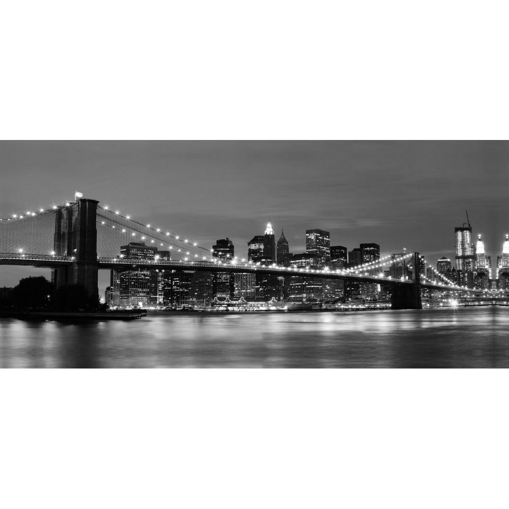 brooklyn bridge new york light up led photographic wall art df15076. Black Bedroom Furniture Sets. Home Design Ideas