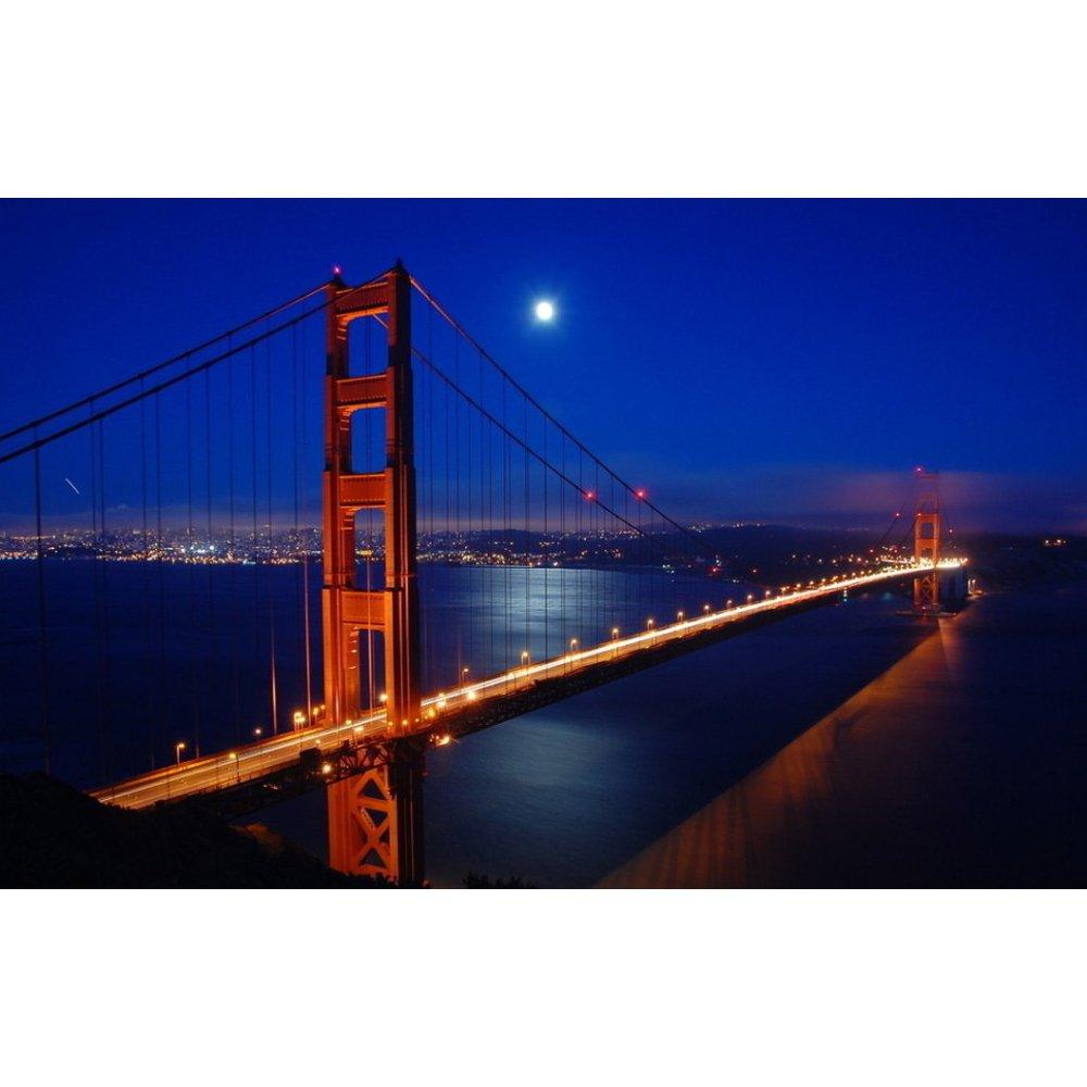 san francisco golden gate bridge light up led photographic. Black Bedroom Furniture Sets. Home Design Ideas