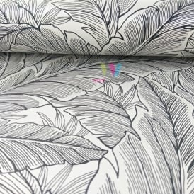 WallQuest Pear Tree Leaf Pattern Wallpaper Modern Metallic Glitter Motif UK10005