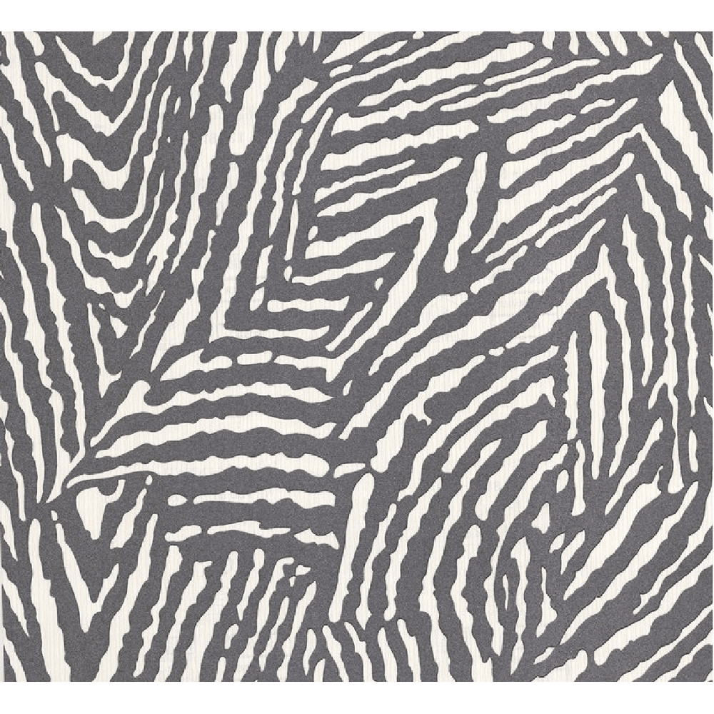 Zebra Skin Animal Print Embossed Pattern Glitter Stripe Wallpaper